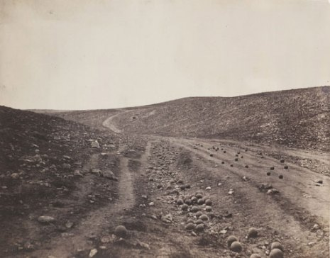 Valley of the Shadow of Death, 1855 by Roger Fenton