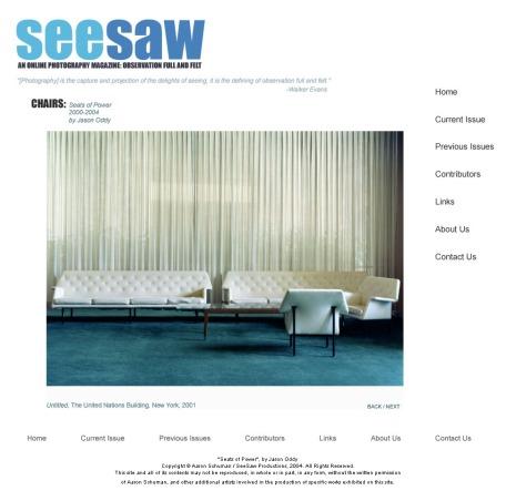 Seat of Power, 2000-4 by Jason Oddy